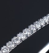 Diamond bracelet, 14 kt. white gold, total approx. 1.00 ct.