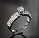 Diamond ring, approx. 0.98 ct.