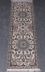 Persisk Nain med silke 199 x 64 cm