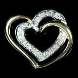 Vedhæng af 9 kt. guld med 15 stk.diamanter