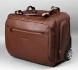 Apples. Rejsetaske i brunt læder.