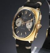 Breitling 'Top Time'. Vintage men's chronograph in gilt steel with dark dial, c. 1970s