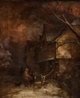 Okänd konstnär, olja på duk 'The Pathron' 1800-tal