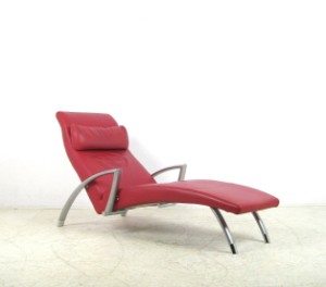 Rolf benz relax liege chaiselongue in leder for Rolf benz liege