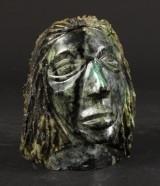 Skulptur af ansigt