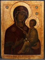 A large Russian church icon. 88 x 66 cm
