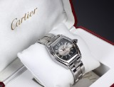 Cartier 'Roadster'. Automatic men's watch, steel, with date, c. 2004