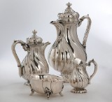 German coffee set, silver, Gebr. Sommé (4)
