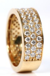 Diamond ring, 18 kt. gold, 1.25 ct.