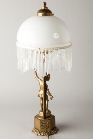 2 tischlampen schaft aus metall lampenschirme aus glas mit perlenbehang 2. Black Bedroom Furniture Sets. Home Design Ideas