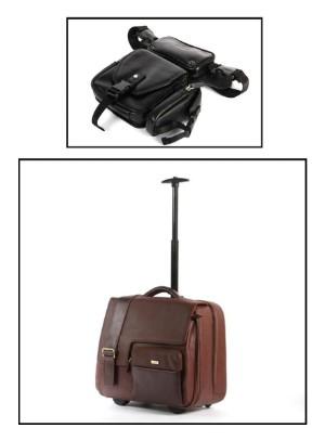 """Apples. Bælte samt rejsetaske. (2) - Dk, Esbjerg, Oddesundvej - Apples. Rejsetaske i brun læder med talrige rum. Forrest lille rum med lynlås. Praktisk som """"håndbagage"""" ved flyvning. Kraftige lynlåse. Rum bl.a. med plads til mobiltelefon, penne, og kreditkort. Teleskophåndtag samt hjul. - Dk, Esbjerg, Oddesundvej"""
