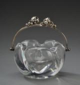 Aage Weimar, isspand af glas med hank af sterling sølv