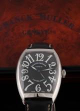 Franck Muller 'Casablanca'. Men's watch, steel with black dial