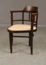 J&J Kohn Art Nouveau chair with cane seat