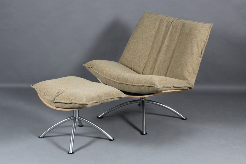 Tom Stepp for Fredericia Furniture. Prime time loungestol med skammel Denne vare er sat til omsalg under nyt varenummer 4188339