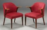 Kn. A. Risager / Slagelse Møbelværk. Par lænestole / armstole (2)
