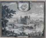 Erik Dahlberg. Kobberstik ''Delineatio Arcis Cronenburgensis quam Sereniss....', 1600/1700-tallet
