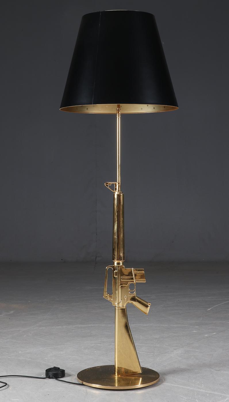 Philippe Starck for Flos. 'Lounge Gun M 16' floor lamp gold