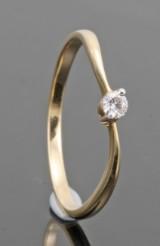 18kt. diamond ring approx. 0.07ct