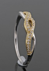 Diamond ring, 18kt. gold, approx. 0.10ct
