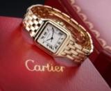Cartier 'Panthere'. Midsize dameur i 18 kt. guld med lys skive, 1990'erne