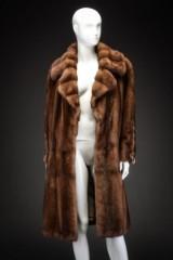 Mink coat, pastel, size 40, labelled Alex Petersen