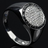 Men's diamond ring from Heartbeats, approx.  0.58 ct.