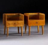 Sängbord, 1 par, 1940/50-tal (2)