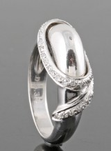 Diamond ring in 18kt approx. 0.32ct