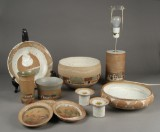 Kähler. Samling stentøj med dekoration, skåle, lampe, m.m. (11)