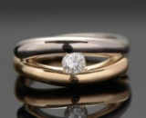 Ole Lynggaard Kysset solitaire diamond ring, approx. 0.30 ct