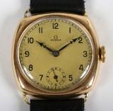 Omega armbandsur, 14 k guld, 1920-tal