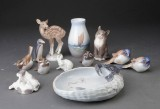 Diverse Kgl.P og B&G figurer og vaser (11)