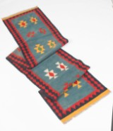 Tæppe/løber, design 'Kilim Shiraz', ca. 457 x 87 cm