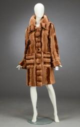 Fur jacket, plucked mink, size 42