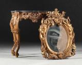 Spegel med konsolbord, barockstil, 1900-tal (2)