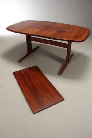 Lot: 4146771 skovby møbler. spisebord af palisander med udtræk (2)