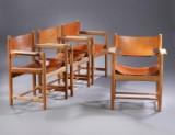 Børge Mogensen. Sæt på fire armstole, model 3238 (4)