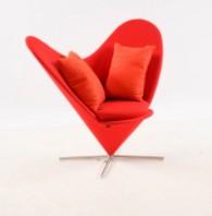 Vitra Verner Panton Heart conechair, hjertestolen i rødt