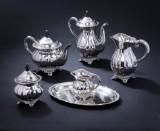 Danish silversmith. Coffee service, silver (6)