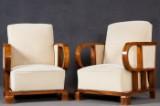 Paar Sessel Art Deco, Mahagonifurnier (2)