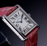 Cartier 'Tank Solo' ladies' watch, steel, silver-coloured dial, 2000's