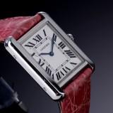 Cartier 'Tank Solo'. Dameur i stål med sølvfarvet skive, 2000'erne