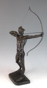 Ernst Moritz Geyger, bronzeskulptur af bueskytte