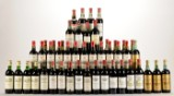 Samling af ældre Bordeaux rødvine (47).