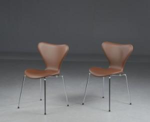 Arne Jacobsen Zwei Stühle Serie 7 Modell 3107 Zertifikat Inkl 2
