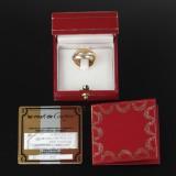 Cartier. 'Trinity' tredelt ring af rosa-, rød- samt hvidguld.