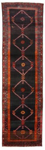 Persisk handknuten gallerimatta, Ardebil, 390x110 cm