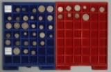 Danmark. Samling mønter i 2 møntbakker  (41)