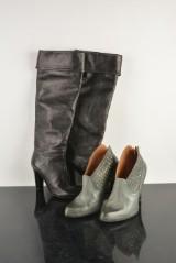 Ett par skor 'Golden Goose' samt ett par stövlar (2)